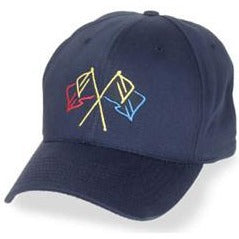 Navy Blue Structured Baseball style Big Hats with Nautical Flags fits Size 3XL