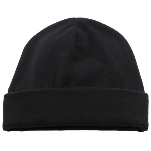 Black Comfort Fleece Big Winter Hats made in USA, fits cap Sizes 3XL