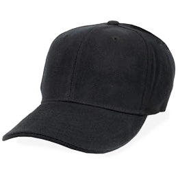 Black Fitted Hats for Big Heads in Sizes 7 3/4 and Size 8