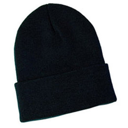 Black Knit Beanies for Big Heads fits Size 3XL