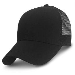 Black Trucker Hats for Big Heads in Sizes 3XL and 4XL