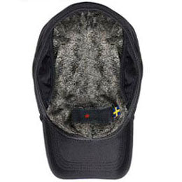 Black Premium Ultra Weather winter hats for big heads in cap Sizes 3XL and 4XL, inside view