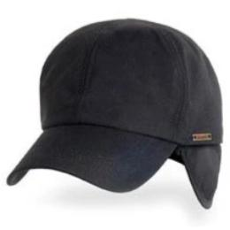 Black Premium Ultra Weather winter hats for big heads in cap Sizes 3XL and 4XL