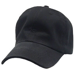 Black Unstructured Baseball Hats for Big Heads fits cap Sizes 3XL and 4XL