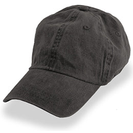 Black Weathered Unstructured Baseball Hats for Big Heads fits Sizes 3XL and 4XL