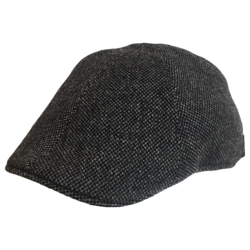Black Wool Herringbone Large Pub Hats, fits cap Sizes 3XL and 4XL