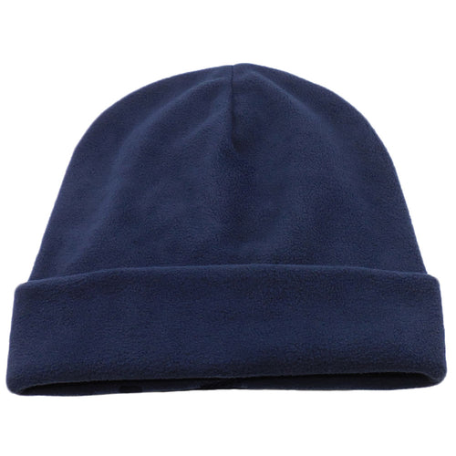 Dark Navy Blue Comfort Fleece Big Winter Hats made in USA, fits cap Sizes 3XL
