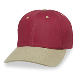 Brick Red Structured Extra Large Hats with Khaki Visor fits Size 3XL