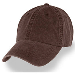 Brown Weathered Baseball Caps in Hat Sizes Large enough to fit 3XL and 4XL caps