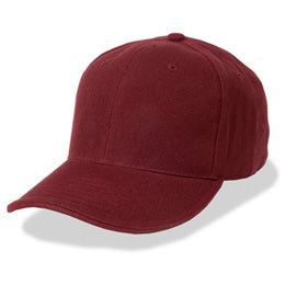 Burgundy Red Fitted Hats for Big Heads in Sizes 7 3/4 and Size 8