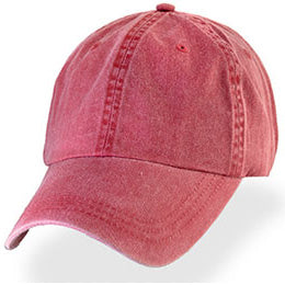 Clay Red Weathered Baseball Hats for Big Heads fits Sizes 3XL and 4XL