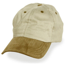 Cream with Brown Visor Baseball Hats for Big Heads fits Size 3XL