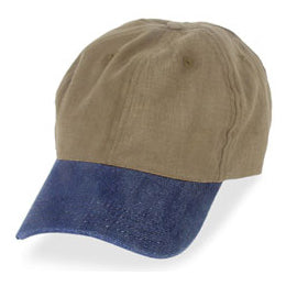 Dark Khaki with Denim Visor in Big Hats for Big Heads fits Size 3XL caps