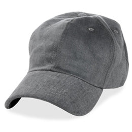 Gray Unstructured Baseball Hats for Large Heads fits Size 3XL