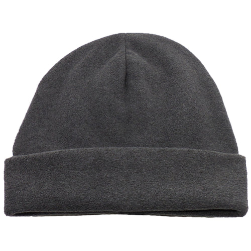 Dark Gray Comfort Fleece Big Winter Hats made in USA, fits cap Sizes 3XL