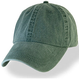 Green Weathered Unstructured Baseball Caps in Big Size Hats for Sizes 3XL and 4XL