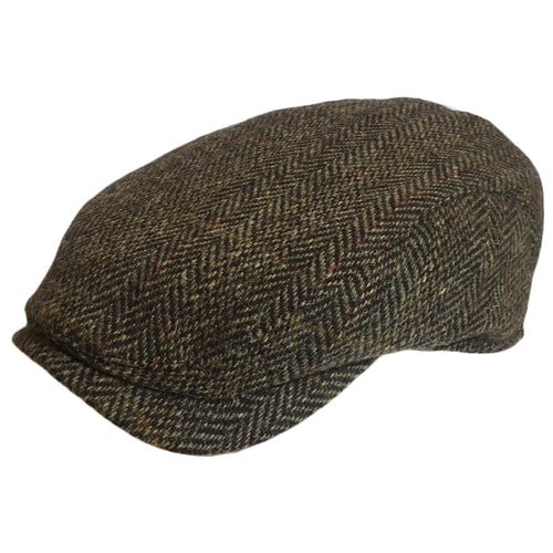 Harris Tweed Driving Cap for Big Heads