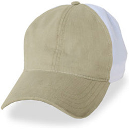 Hats for Large Heads in Cream with White partial coolnit for size 3XL