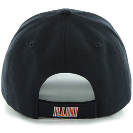 Univ of Illinois Fighting Illini NCAA Structured Baseball Big Caps in Size 3XL, back view