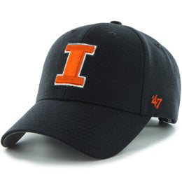 Univ of Illinois Fighting Illini NCAA Structured Baseball Big Caps in Size 3XL