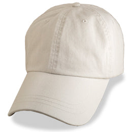 Khaki Light color Weathered style Baseball Caps, in Largest Hat Sizes 3XL and 4XL