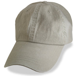 Khaki Weathered Baseball Caps in Hat Sizes Large enough to fit 3XL and 4XL caps