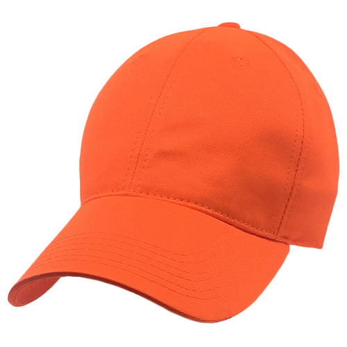 Blaze Orange Baseball Style Large Hats fits Size 3XL