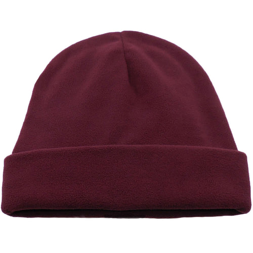 Maroon Red Comfort Fleece Big Winter Hats made in USA, fits cap Sizes 3XL