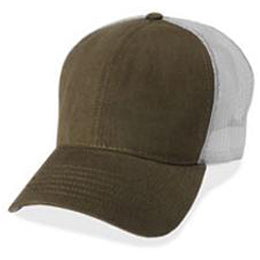 Olive with Gray Mesh Hats for Big Heads in size 3XL