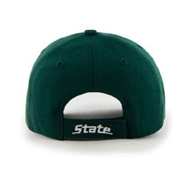 Michigan State University (MSU Spartans) NCAA Structured Big Caps fits Size 3XL, back view
