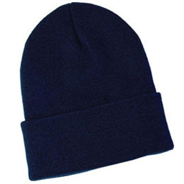 Navy Blue Knit Beanies for Big Heads fits Size 3XL