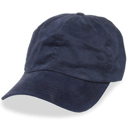 Navy Blue Unstructured Dad's Hats for Big Heads in Sizes 3XL and 4XL