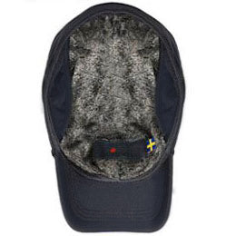 Navy Blue Premium Ultra Weather winter hats for big heads fits cap Sizes 3XL, inside view
