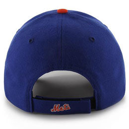 New York Mets MLB Structured Baseball Hats for Big Heads fits cap Size 3XL back view