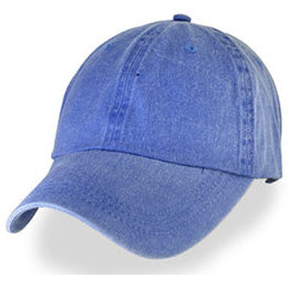 Ocean Blue Weathered Unstructured Big Size Hats, fits Baseball Cap Sizes 3XL-4XL