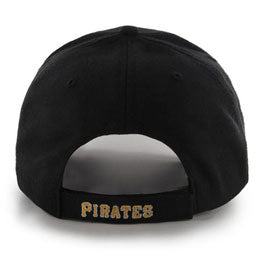 Pittsburgh Pirates MLB Structured Baseball Caps for Big Heads fits hat Size 3XL back view