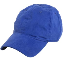 Royal Blue Unstructured Dad's Baseball Hats for Big Heads fits Size 3XL