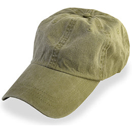 Safari Green Weathered style Baseball Caps, fits Largest Hat Sizes 3XL and 4XL