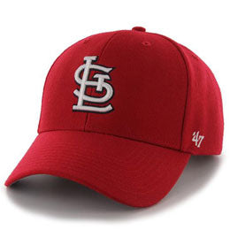 St Louis Cardinals MLB Structured Baseball Hats for Large Heads fits Size 3XL