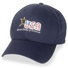 Navy Blue Structured 3XL Hats with Embroidered USA Logo fits Sizes 7 1/2 - 8 1/2