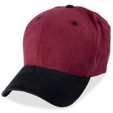 Structured Burgundy Baseball Large Hats with Black Visor fits Size 3XL