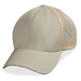 Trucker Hats for Big Heads in Cream Mesh in Sizes 3XL and 4XL
