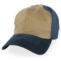 Trucker Hats for Big Heads in Dark Khaki with Blue Coolnit for sizes 3XL and 4XL