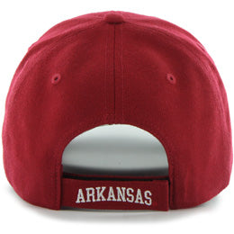 University of Arkansas Razorbacks NCAA Structured Baseball Big Caps in Size 3XL, back view