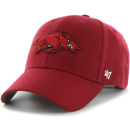 University of Arkansas Razorbacks NCAA Structured Baseball Big Caps in Size 3XL
