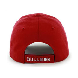 Univ of Georgia Bulldogs NCAA Structured Baseball style Big Caps, fits Size 3XL, back-view