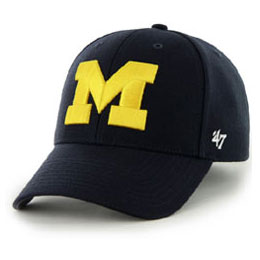 Univ of Michigan (U of M) Wolverines NCAA Structured Big Caps, fits Size 3XL