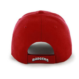 University of Wisconsin Badgers NCAA Structured Big Caps, fits hat Size 3XL, back-view