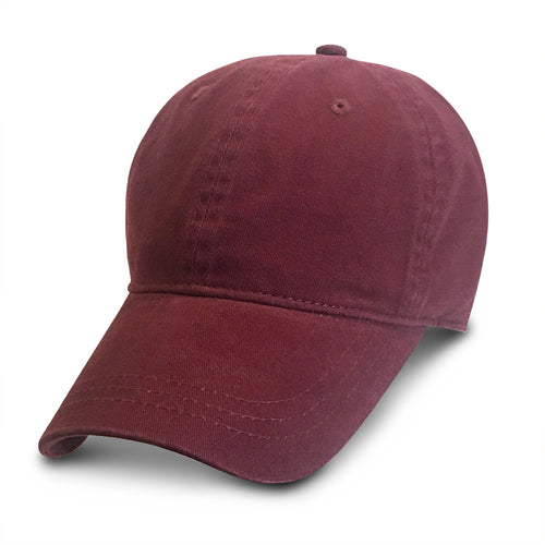 Burgundy Unstructured Baseball Hats for Big Heads fits cap Sizes 3XL and 4XL