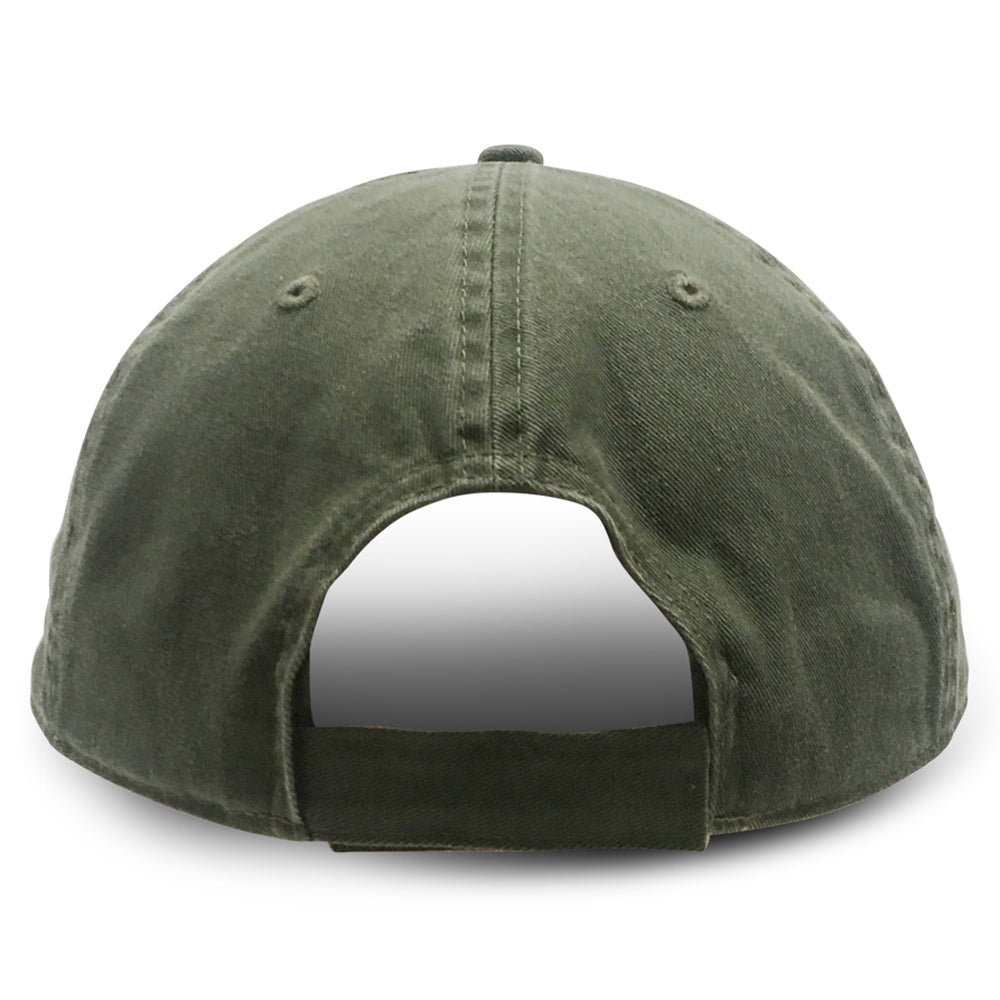 Green Unstructured Baseball Hats for Big Heads fits cap Sizes 3XL and 4XL back view